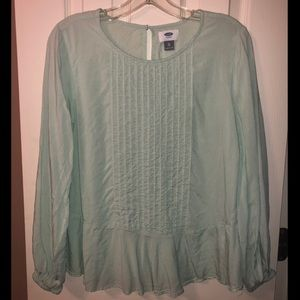 Seafoam Green Blouse